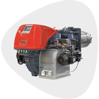 Low NOx Modulating Dual Fuel Burners